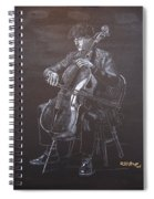 Cello Player Spiral Notebook