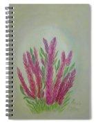 Celosia Dragon's Breath Acrylic Painting By Artist Rosie Foshee Spiral Notebook