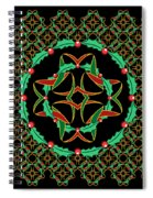 Celtic Christmas Holly Wreath Spiral Notebook