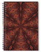 Celtic Ribbons Tile K7-2 Bronze Spiral Notebook