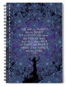 Celtic She Walks In Beauty Spiral Notebook