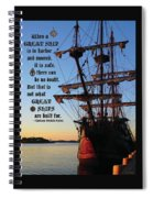 Celtic Tall Ship - El Galeon In Halifax Harbour At Sunrise Spiral Notebook