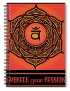 Celtic Tribal Sacral Chakra Spiral Notebook