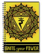 Celtic Tribal Solar Plexus Chakra Spiral Notebook