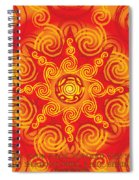 Celtic Tribal Sun Spiral Notebook