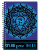 Celtic Tribal Throat Chakra Spiral Notebook