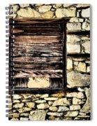 Cement Factory Window Spiral Notebook