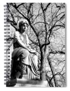 Cemetary Statue B-w Spiral Notebook