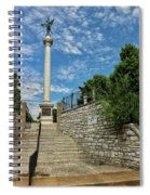 Cemetery Entrance And Lovejoy Monument  Spiral Notebook