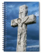 Cemetery Statue Of Jesus Spiral Notebook