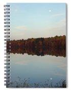 Centennial Lake Autumn - Reflective Moon Over The Lake Spiral Notebook