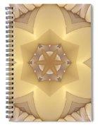 Center Star-flower Spiral Notebook
