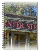 Center Street Cafe Sign Spiral Notebook