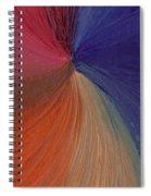 Centered Oil Swirls Spiral Notebook
