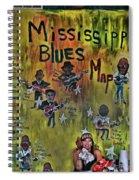 Central B B Q # 3- Memphis Spiral Notebook