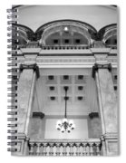 Central Library Milwaukee Interior Bw Spiral Notebook