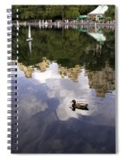 Central Park Pond With Two Ducks Spiral Notebook