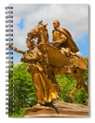 Central Park Sculpture-general Sherman Spiral Notebook