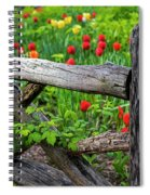 Central Park Shakespeare Garden New York City Ny Wooden Fence Spiral Notebook