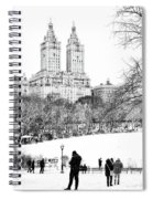 Central Park Snow Lakeside Spiral Notebook