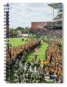 Ceremonial Running Of The Baylor Line Spiral Notebook