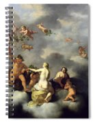 Ceres Bacchus Venus And Cupid  Spiral Notebook