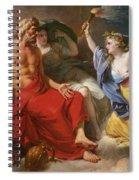 Ceres Begging For Jupiter's Thunderbolt After The Kidnapping Of Her Daughter Proserpine Spiral Notebook