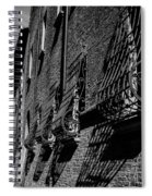 Cesena In Black And White Spiral Notebook