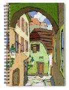 Cesky Krumlov Masna Street Spiral Notebook