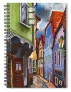 Cesky Krumlov Old Street 1 Spiral Notebook