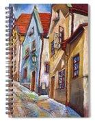 Cesky Krumlov Old Street 2 Spiral Notebook