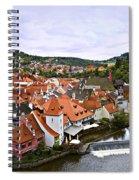 Cesky Krumlov Overview 2 Spiral Notebook