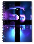 Cetacean Grid Spiral Notebook