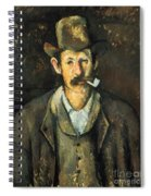 Cezanne: Pipe Smoker, C1892 Spiral Notebook