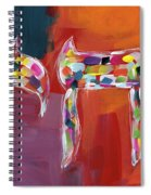 Chai Of Many Colors- Art By Linda Woods Spiral Notebook