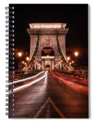 Chain Bridge At Midnight Spiral Notebook