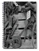 Chain Pallet Bw Spiral Notebook