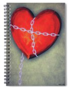 Chained Heart Spiral Notebook