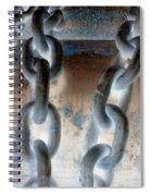 Chains - Nagative Spiral Notebook
