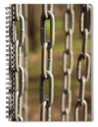 Chains Abstract 1 Spiral Notebook