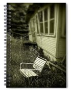 Chair In Grass Spiral Notebook