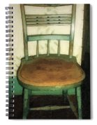 Chair In Isolated Corner Spiral Notebook