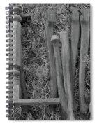 Chair Legs Bw Spiral Notebook
