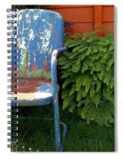 Chair Of Many Colors Spiral Notebook