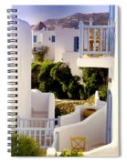 Chair On Balcony In Mykonos Spiral Notebook