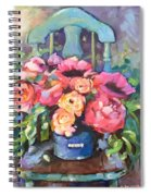 Chair With Flowers Spiral Notebook