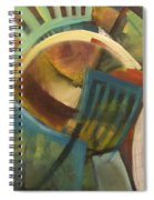 Chairs Around The Table Spiral Notebook