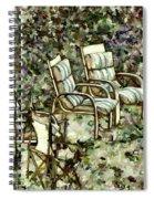 Chairs In Backyard Spiral Notebook