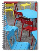 Chairs In Bryant Park Spiral Notebook