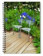 Chairs In The Garden Spiral Notebook